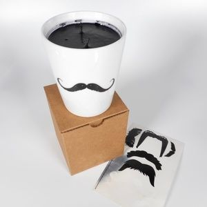 Gold Canyon Pomegranate Candle w Mustache Stickers